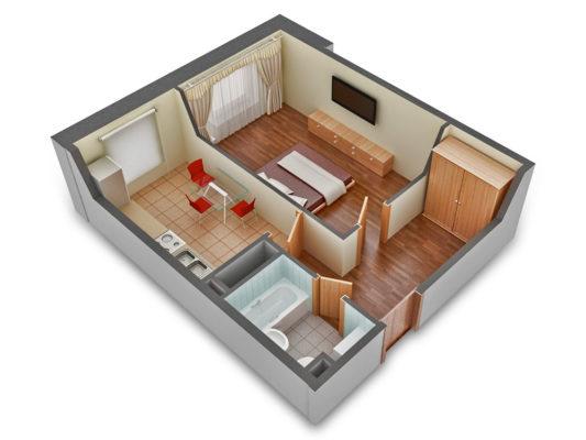 Чем отличается 1-комнатная квартира от студии, гостинки и малосемейки