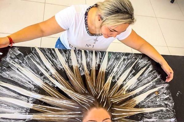 омбре на мелированные волосы