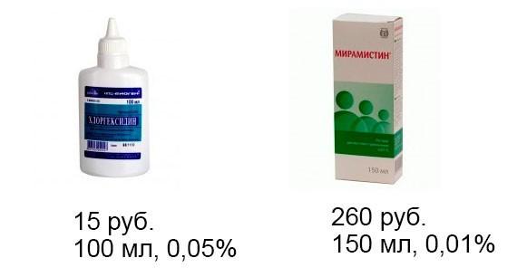 хлоргексидин и мирамистин сравнение