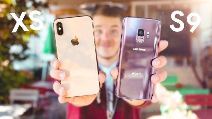 сравнение айфона и самсунга 9