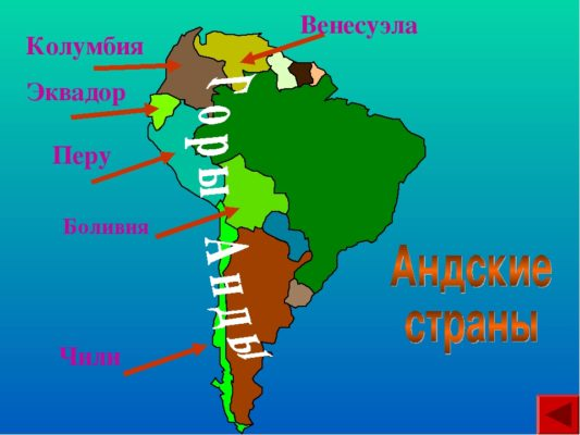 Чили, Перу, Венесуэла