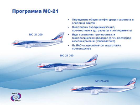 Схема салона МС-21