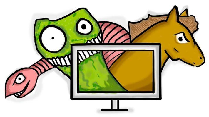 чем отличается компьютерный вирус от червя