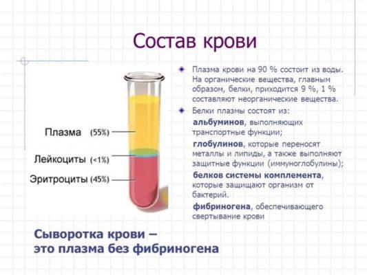 Сыворотка крови отличается от плазмы крови отсутствием фибриногена
