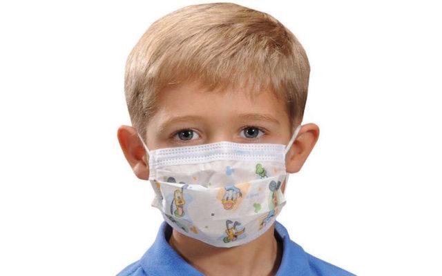 Детские медицинские маски для лица