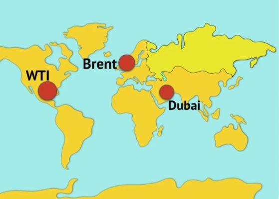 Где какие виды нефти добывают в мире
